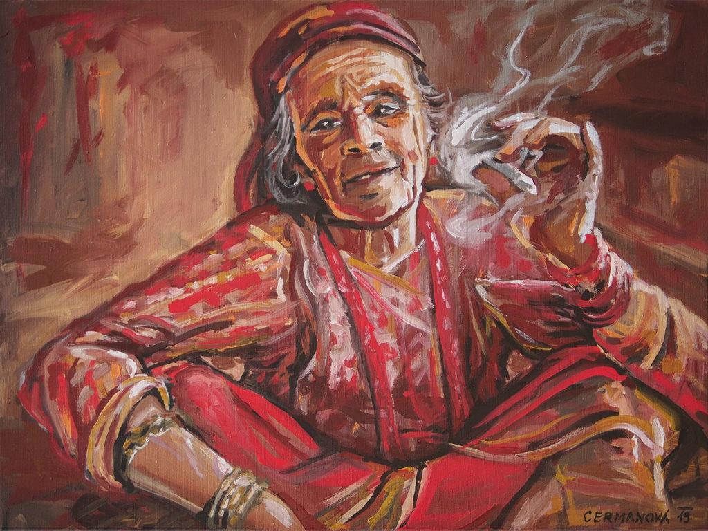 umělecký portrét malba