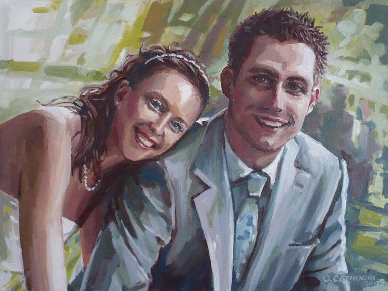 obraz svatební dar portrét malab