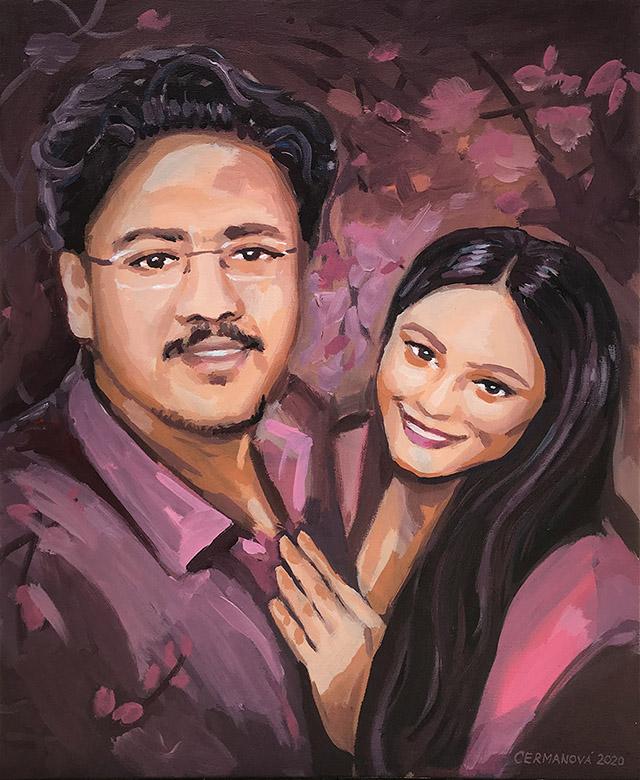 malba portrétů