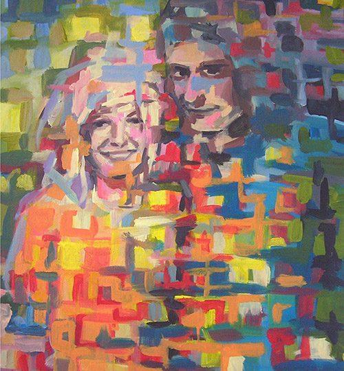malovaný portrét abstrakce