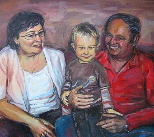 malba portrétu podle fotografie