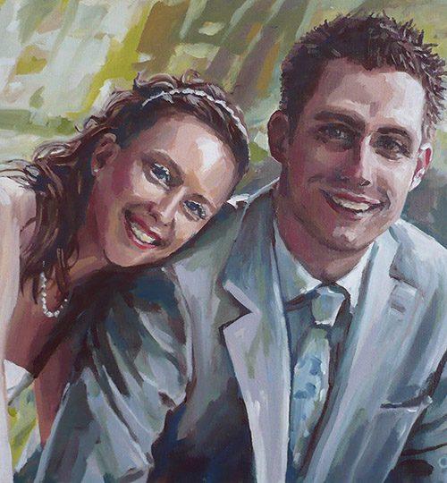 malba portrétu svatba