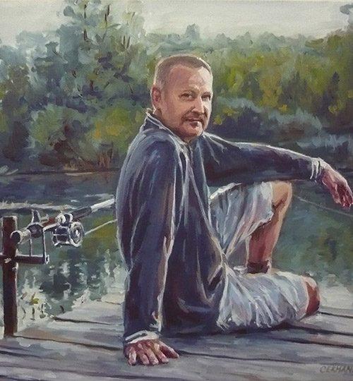 malba portrétu podle fotografie Praha