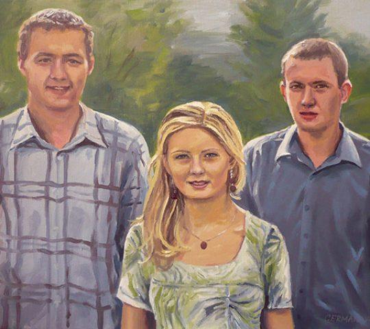 malba podle fotografie Praha