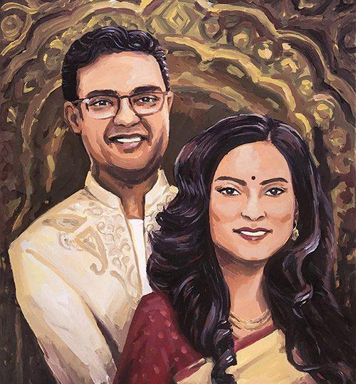 manželský pár portrét