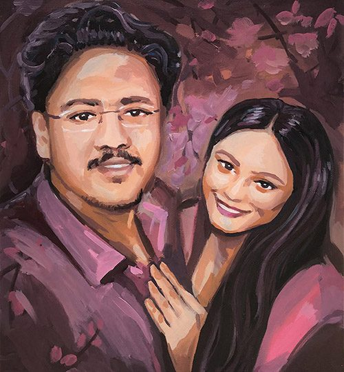 svatební dar obraz portrét