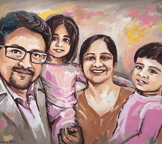 rodinný portrét na zakázku