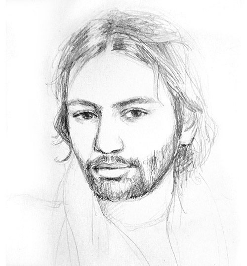 kreslený portrét